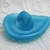 Vintage Turquoise Moonglow Leaf Button  50's