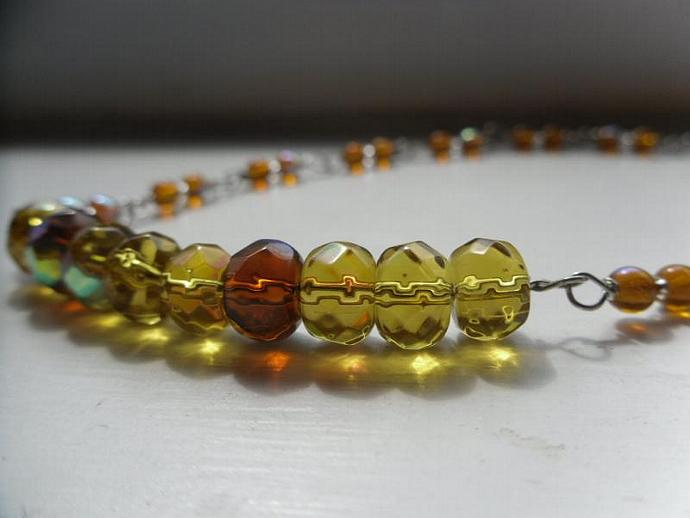Golden Rondelle Necklace