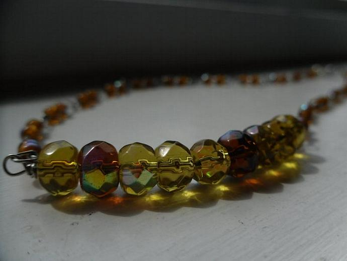 Golden Rondelle Necklace