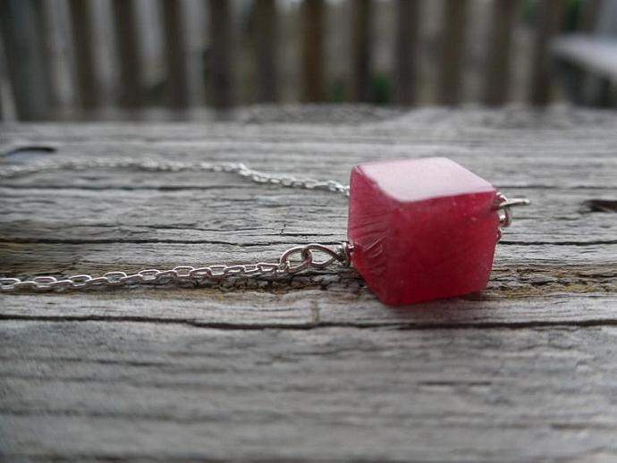 A Sugar Cube-Red Jade