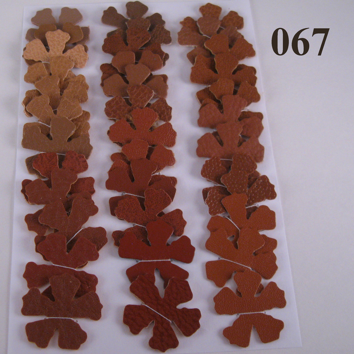36 Brown Vinyl Die Cut Flower Set