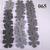 36 Gray Vinyl Die Cut Flowers