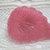 Vintage Pink Moonglow Leaf Button  50's
