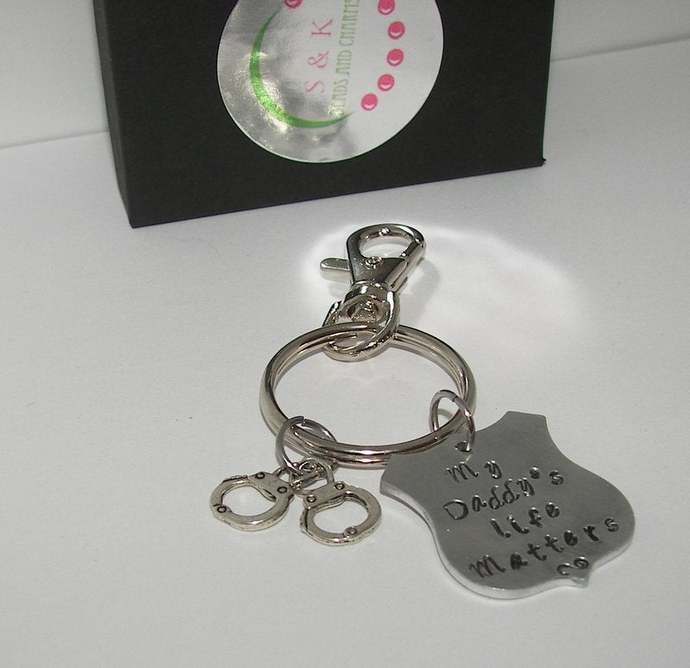 My daddy's life matters  keychain, blue lifes matter , law informent support