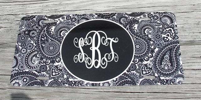 custom car tag, monogram car tag, custom car plate, personalized car tag,