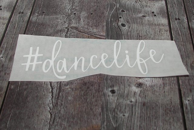 Custom #Dance life Ballerina decal great for  laptop or cup or tumblers, girl