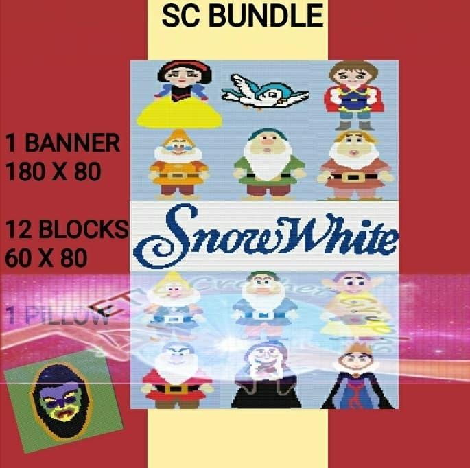 Snow White SC Bundle - 14 Patterns - Graphs w/Written