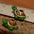Green Turtle Ceramic Beads