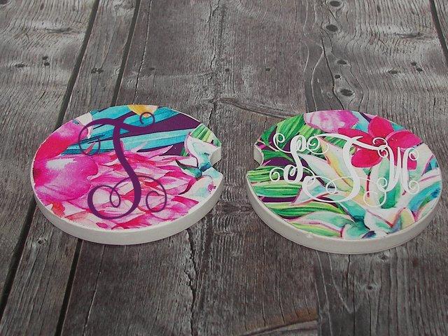 car coaster set , set of 2 , custom coaster set, personalized coaster, cup