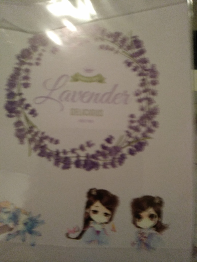 Lavender sticker sheets