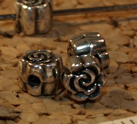 Metalized Rose Beads (9-1018)