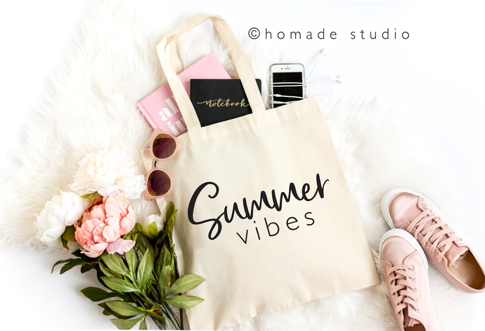 Summer Vibes Canvas Tote