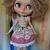 Blythe or Pullip Doll Dress - OOAK - Jenni & Joanie  - soft mohair bodice over