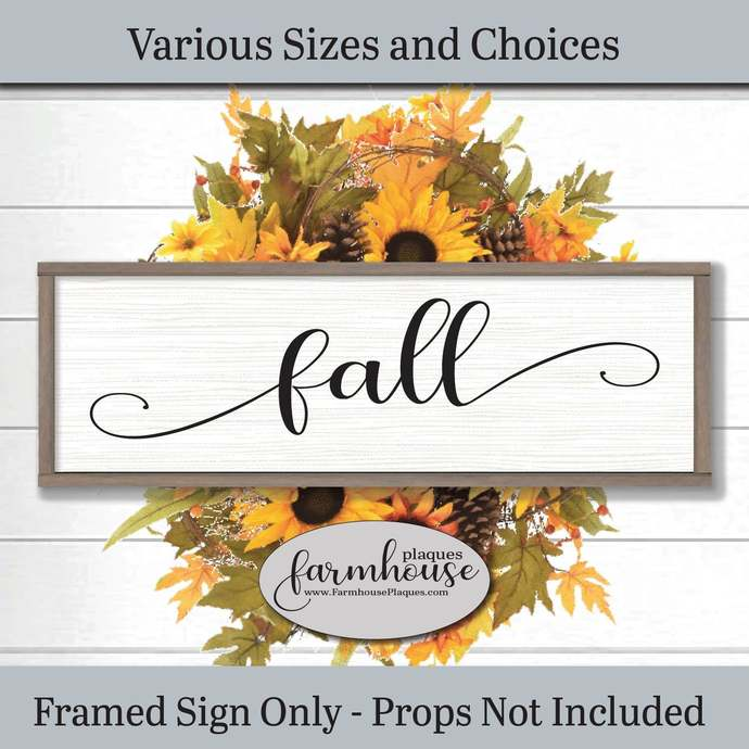 Fall Sign Framed Wood Wall Art | Farmhouse Decor Signs and Plaques | Fall Decor,