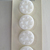 White Glass Buttons with Triangles and Textured Background 4539-10