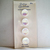 """1950's Schwanda Card of 1/2"""" White Glass Buttons with Iridescent Luster 7630-6"""