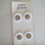 """Original card of 11/16"""" White Glass Shaved Top Buttons with Clover and Gold"""