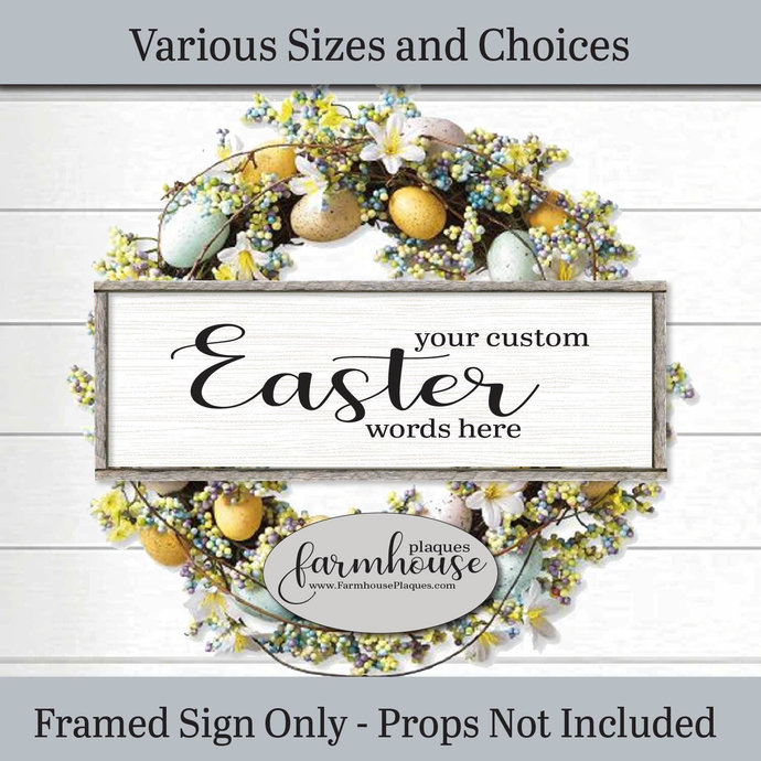 You Custom Easter Words Sign Farmhouse Decor Wood | Signs and Plaques | Framed
