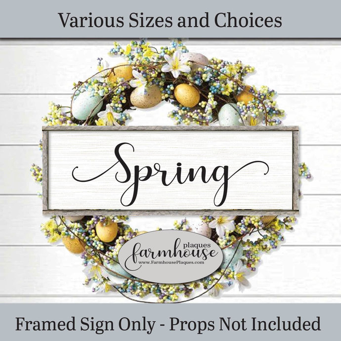 Spring Easter Sign   Farmhouse Decor Wood Signs and Plaques   Framed Wall Art  