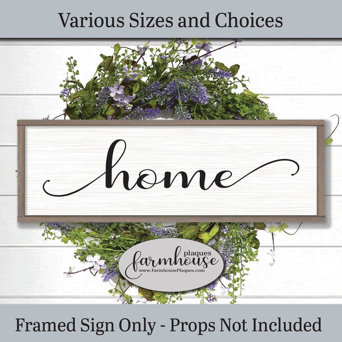 Home Sign | Farmhouse Decor Signs and Plaques | Wedding Gift | Welcome Sign