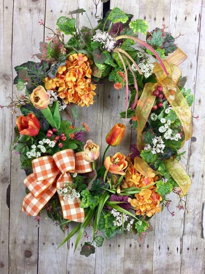 Spring Wreaths, Summer Wreath, Front Door Wreath, Easter Mothers Day Door