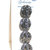 """Original card of 11/16"""" Black Glass Buttons with Silver Luster 4689-8"""