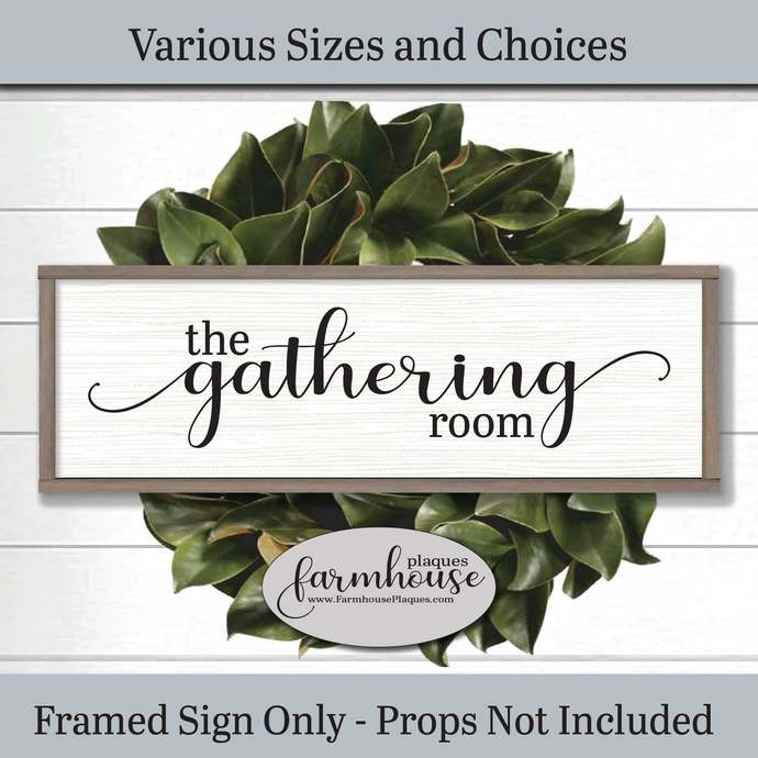 The Gathering Room Framed Wood Wall Art | Farmhouse Decor Signs and Plaques |