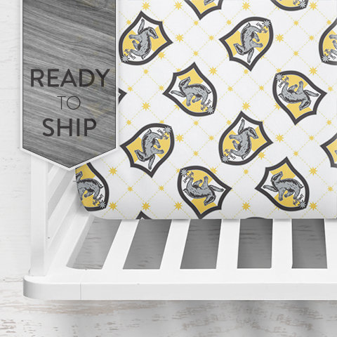 Hufflepuff Crib Sheet ~ Fitted Crib Sheet ~ Baby Bedding ~ Crib Bedding ~ Harry