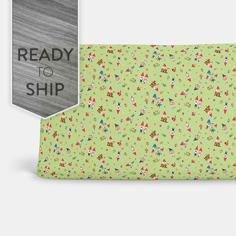Green Gnomes Changing Pad Cover ~ Gnome Change Pad ~ Gnome Changing Pad ~ Baby