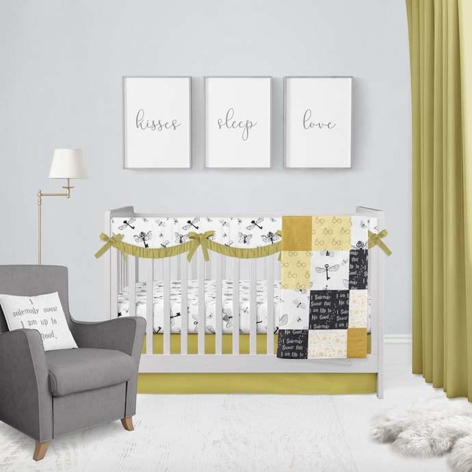 Harry's Flying Keys & Hufflepuff Baby Bedding Crib Set ~ Crib Bedding ~ HP