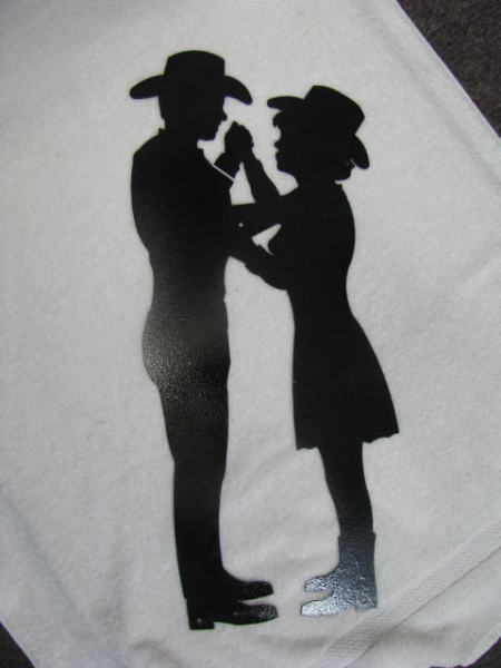 Cowgirl and Cowboy Dance 2 Silhouette