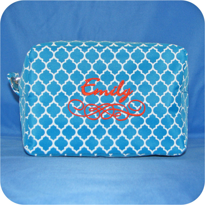Personalized Makeup Bag, Monogrammed Cosmetic Bag, Toiletry Bag, Makeup Case,