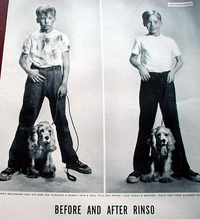 1953 Life Magazine Ad-Before and After Rinso