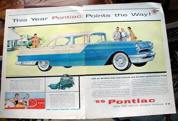 1954 Life Magazine Ad-Pontiac Points the Way