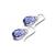Tanzanite Swarovski Crystal Briolette Sterling Silver Earrings