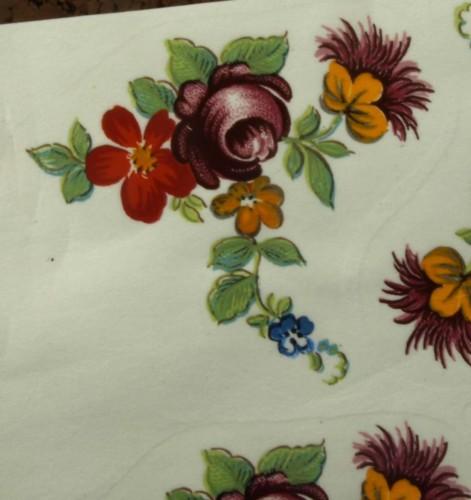 Bold Flowers Ceramic Waterslide DecalsD9-25