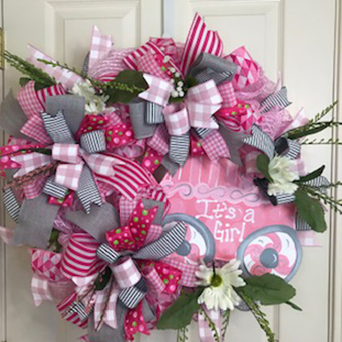 Welcoming a New Baby Girl Wreath!