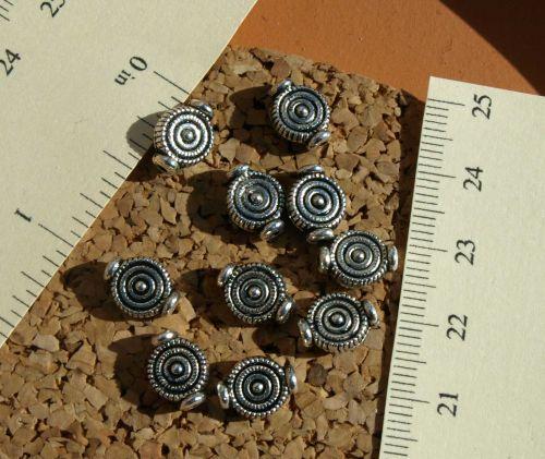 Pewter Swirl Beads (9-1139)