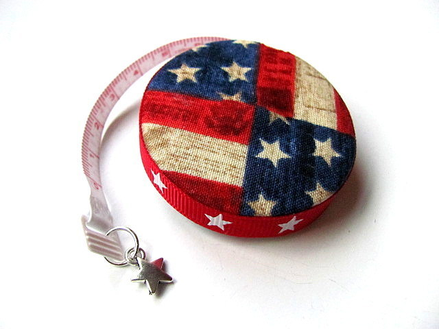 Measuring Tape Aged American Flag Retractable Tape Measure