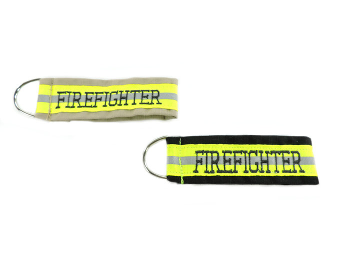 Personalized Firefighter Keychain, Firefighter Gift for him, Key Fob, Groomsmen