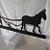 Mule Plowing Silhouette
