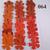 Orange and Red Vinyl Die Cut Flowers