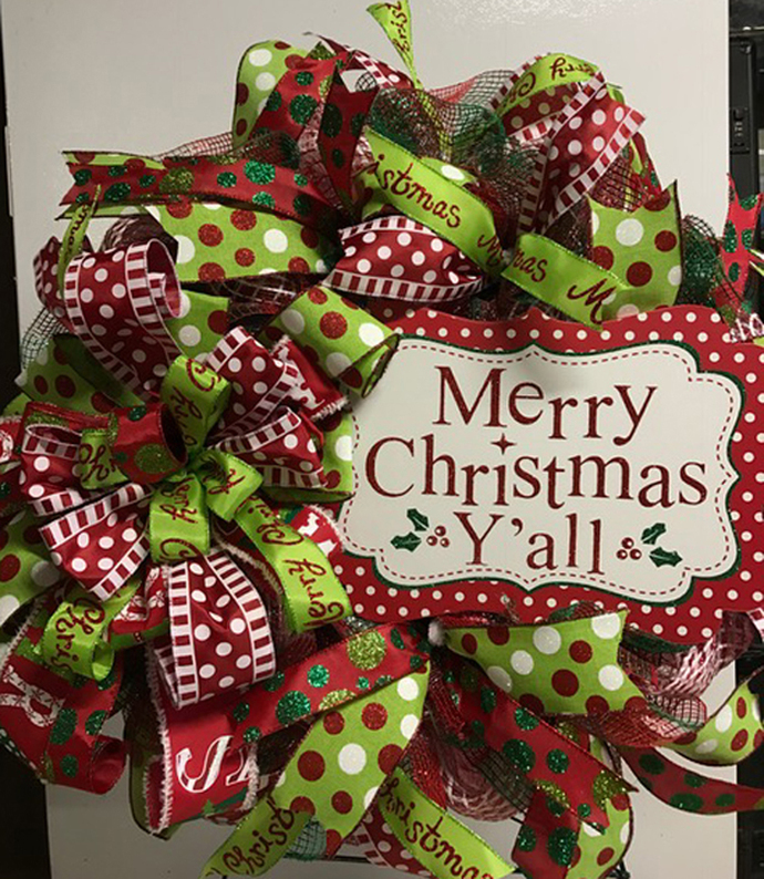 Merry Christmas Y'all Wreath