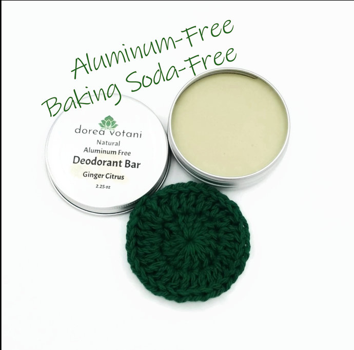 Natural Deodorant | Ginger Citrus | Aluminum Free Baking Soda Free | pH Balanced