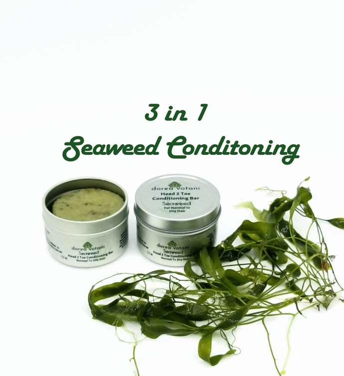 Seaweed Conditioner Bar | Head 2 Toe | 3 in 1 Solid Conditioner Bar | Normal to