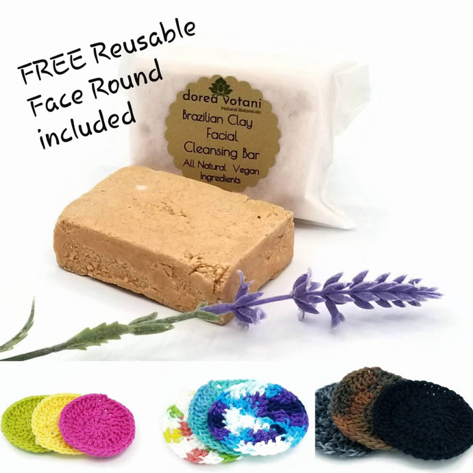 Face Cleanser | Brazilian Clay | All Natural Purifying Bar | pH Balanced |Vegan
