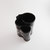Toothbrush Holder, Black With White Leaves, Kitchen Utensil Container, Flower