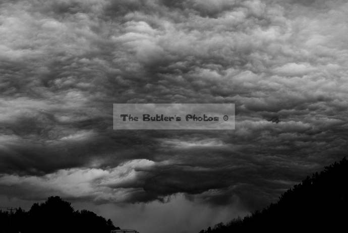 Photograph of A Stormy Sky,  Black and White Photograph, Dark CLouds Photograph,
