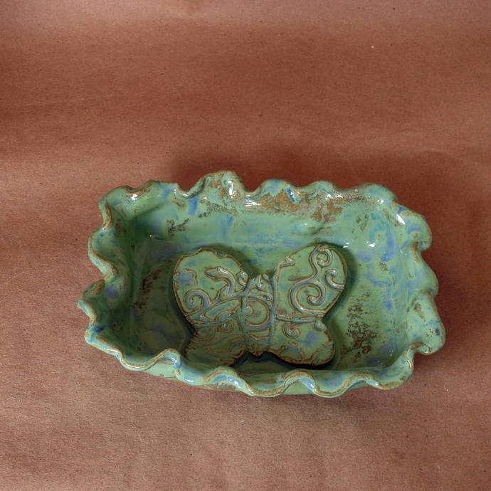 Soap Dish, Candy Dish, Trinket Dish, Butter Dish, Rings and Things Holder, Mint