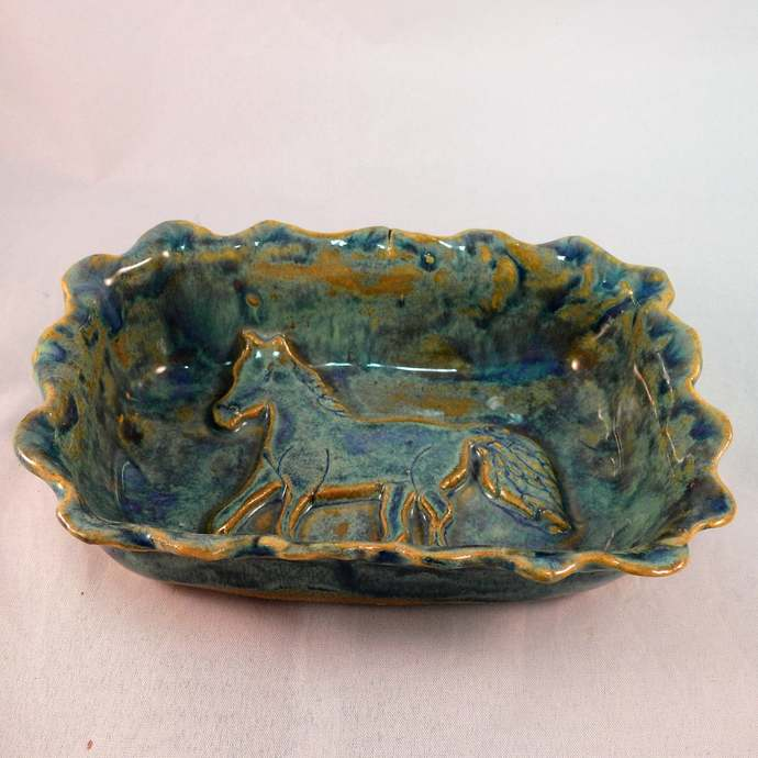Horse Soap Dish, Candy Dish, Trinket Dish, Butter Dish, Rings and Things Holder,